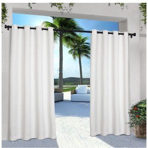 Exclusive Home Cabana White Indoor Outdoor Curtain